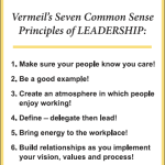 Seven Common Sense Principles of Leadership